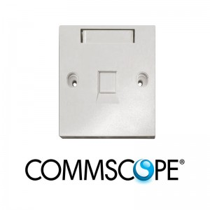 BS Style Faceplate, 1-Port Shuttered COMMSCOPE / AMP 1859049-1