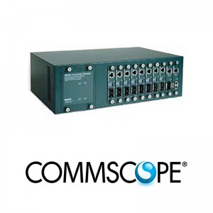 Rack Mount Media Convertor Chassis System COMMSCOPE / AMP 1591032- 1
